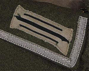 Cuello de una guerrera para suboficial (NCO)